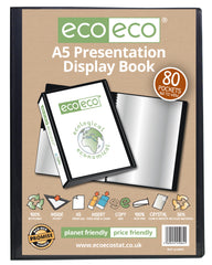 A5 50% Recycled 80 Pocket Presentation Display Book