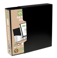 A4 50% Recycled 100 Pocket Presentation Display Book and Box