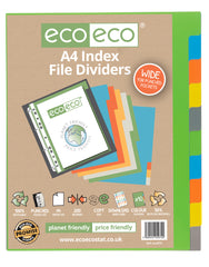 A4 50% Recycled Set 10 Wide Index File Dividers