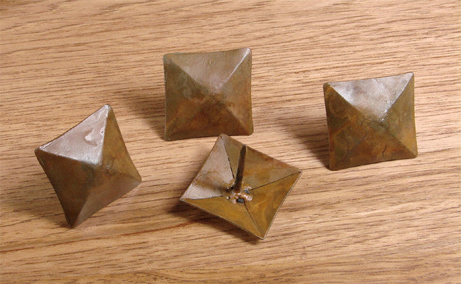 "Premium 1 1/2"" x 1 1/2"" Pyramid Clavos, Hand forged iron"