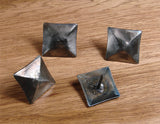 "Premium 1 1/2"" x 1 1/2"" Pyramid Clavos, Hand forged iron - Wild West Hardware"