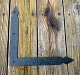 "Hand-forged, Rustic Hammered L or T Bracket, Braces (large 12"" x 12"" x 1 1/2"") - Wild West Hardware"