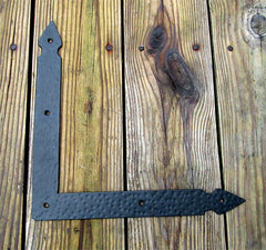 "Hand-forged, Rustic Hammered L Bracket, Braces (large 12"" x 12"" x 1 1/2"")"