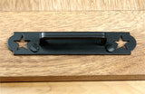 Americana Drawer Pull #1 Black Powder Coat finish - Wild West Hardware
