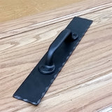Barn Door Handle Pull #1 with Hammered Back Plate - Wild West Hardware