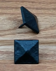 "Pyramid Clavos, 1 1/8"" x 1 1/8""- Aged / Distressed Look, Black finish - Wild West Hardware"