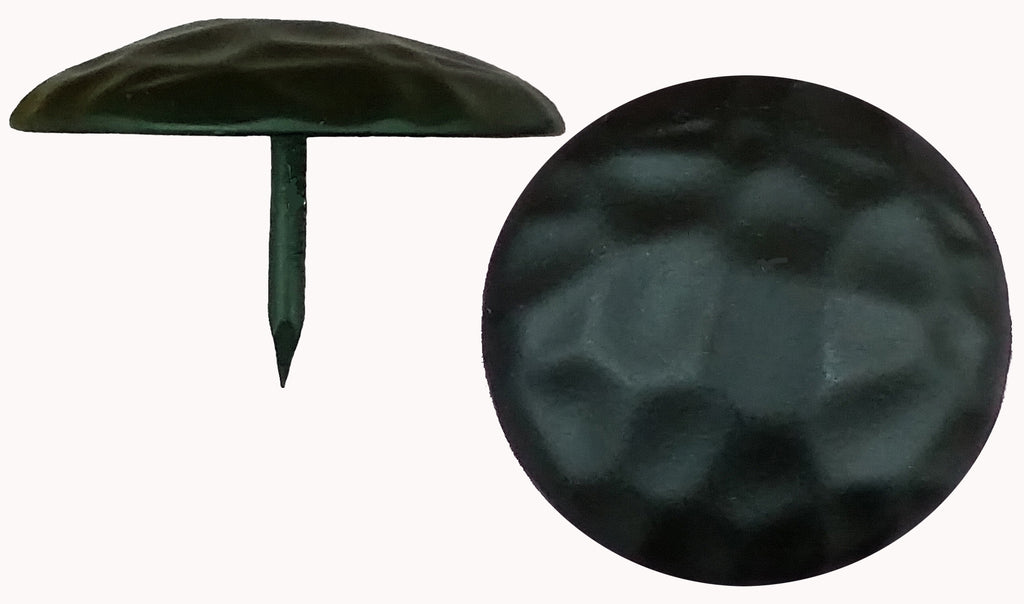 Clavos, Round, Hammered - Distressed, Premium Grade, 1 1/2 Inch Diameter, Matte Black Finish, (Special Multi-Pack Sale)
