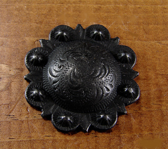 Round STUDDED Style Clavos - Oil Rubbed Bronze finish (near black)