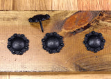Round STUDDED Style Clavos - Oil Rubbed Bronze finish (near black) - Wild West Hardware