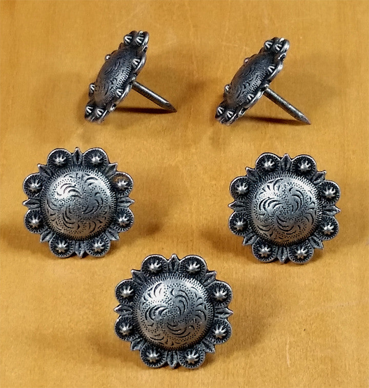 STUDDED Style Clavos - Pewter finish