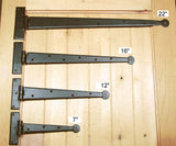 Premium Colonial Style Strap Hinges - Wild West Hardware
