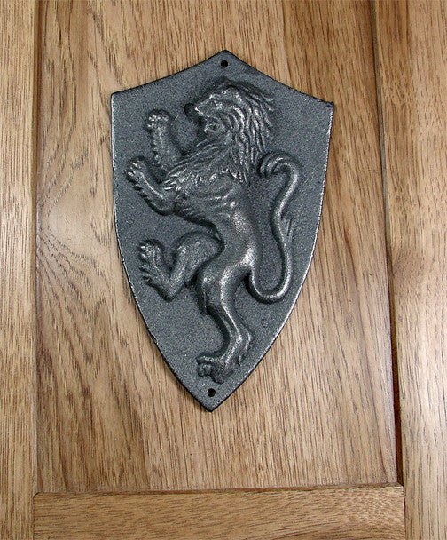 Rampant Regal Lion Plaque - Unfinished - Wild West Hardware