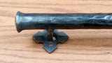 "Barn Door Handle - Door Pull - Round Bar Distressed - 1"" Dia. (NEW ITEM) - Wild West Hardware"