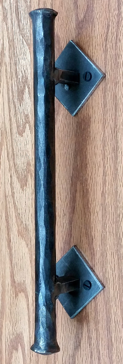 "Barn Door Handle - Door Pull - Round Bar Distressed - 3/4"" Dia. (NEW ITEM) - Wild West Hardware"