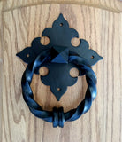 Twisted Ring Door Knocker with FDL Backplate