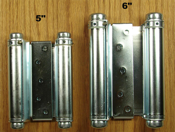 Adjustable Double Acting Spring Hinge - Zinc Plated Finish