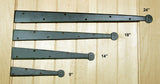 Premium Colonial Dummy Strap Hinge Decorative Strap Hinges - Wild West Hardware