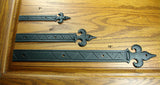 "Decorative Straps Fleur de Lis styling with unique reveals and markings - 19"" length - Wild West Hardware"