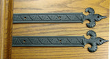 "Decorative Straps Fleur de Lis styling with unique reveals and markings - 11"" Length - Wild West Hardware"