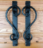 Fish Tail Scroll Door Pull / Barn Door Pull / Appliance Pull - Low Profile - Wild West Hardware