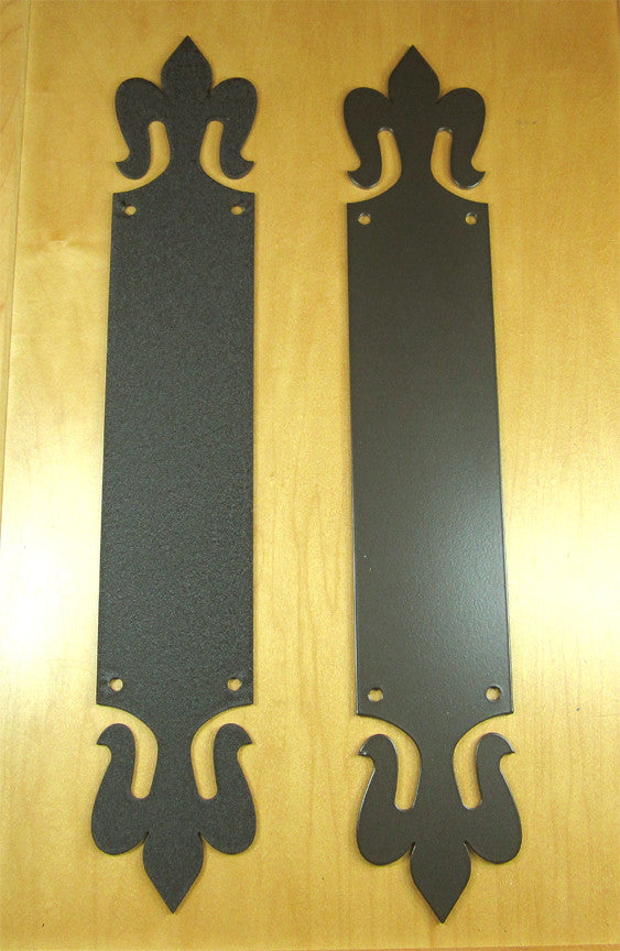 Push Plate: Old world style (Fleur de Lis)
