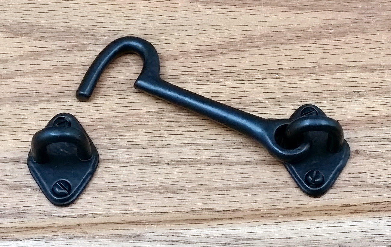 "4"" Plain Cabin Hook - Wild West Hardware"