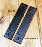 Large Tree Branch Barn Door Handle and Matching Flush Pull Set - Wild West Hardware