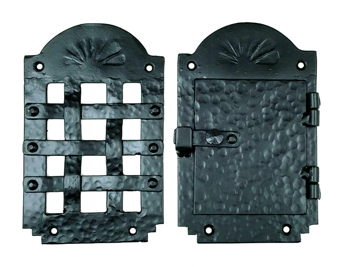 "Speakeasy Grille, Iron Door Viewer, ""Old Hacienda Style""  (2 pc. Iron Speakeasy Door Viewer Kit)"