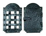 "Speakeasy Grille, Peephole,  Iron Door Viewer, ""Old Hacienda Style""  (2 pc. Iron Speakeasy Door Viewer Kit) - Wild West Hardware"