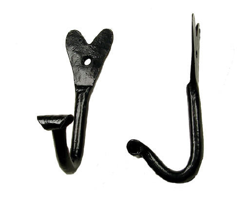 Decorative hand forged hook - Wild West Hardware