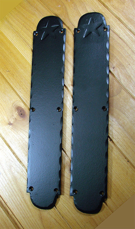 "The "" Old Western"" Push Plate"