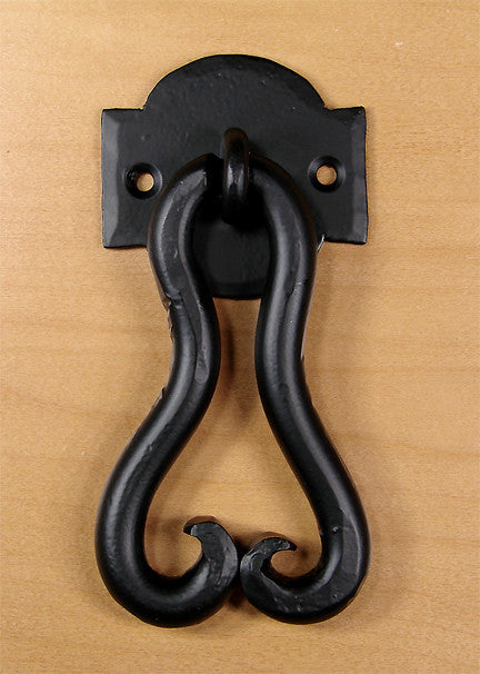 Pear Door Knocker - Matte Black powder coat - Wild West Hardware
