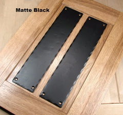 "Rustic Push Plate with Hammered edges (3"" x 14"")"