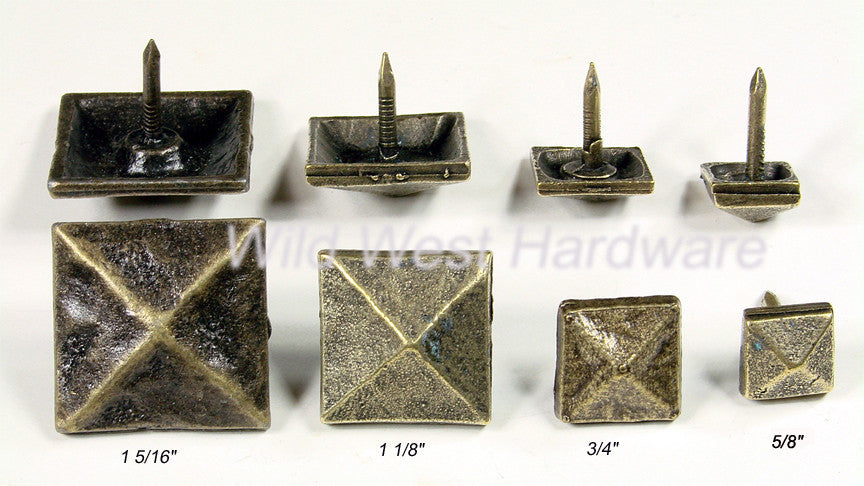 Decorative Nail Pyramid Shape - Antique Brass finish