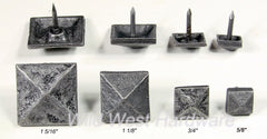 Decorative Nail - Pyramid Shape - Pewter finish clavos - Wild West Hardware