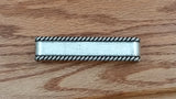 Drawer Pull w/ rope edge, Old Silver finish - Wild West Hardware