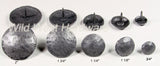 Decorative Nails,  Round Hammered Effect,  Pewter finish - Wild West Hardware