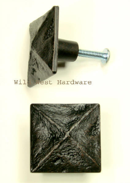 Pyramid Square Knob for cabinets or drawers