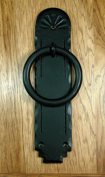 "Santa Fe Ring Door Knocker 4"" Diameter Ring - Matte Black powder coat - Wild West Hardware"