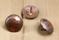 "Solid Copper Nails, Clavos 1 1/2"" diameter head with 3/4"" nail length (penetration depth) - Wild West Hardware"