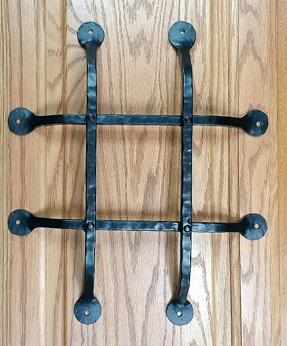 "Premium Flat Tipped Speakeasy Grille  - 10"" x 12""  4 Bars, Black Powder Coat finish - Wild West Hardware"