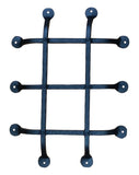 "Premium Flat tip Speakeasy Grille  - Size: 12"" x 16""  5 Bars, Black Powder Coat finish - Wild West Hardware"