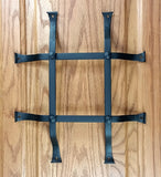 "Standard Style Speakeasy Grille  - Size: 10"" x 12"" - 4 Bars with flared mounting legs - Wild West Hardware"