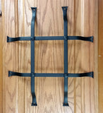 "Standard Style Speakeasy Grille  - Size: 12"" x 14"" - 4 Bars with flared mounting legs - Wild West Hardware"