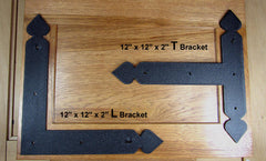"Large Premium Spear Brackets 12"" size, Textured finish - Wild West Hardware"