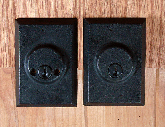 Deadbolts Square Style,  Double Cylinder - Wild West Hardware