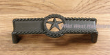 Star Drawer Pull w/ rope edge, Oil Rubbed Bronze finish - Wild West Hardware