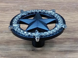Star Knob, Round with Barb Wire Border  5 finishes - Wild West Hardware
