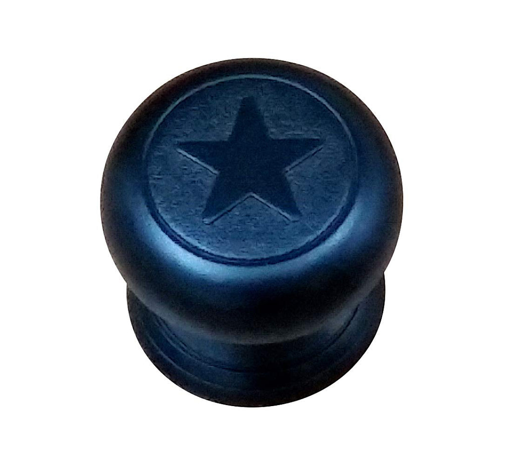 (Set of 5) Western Style Star Knobs, Black Finish