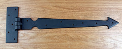 Arrow Style Strap Hinge - Black powder coat finish - Wild West Hardware